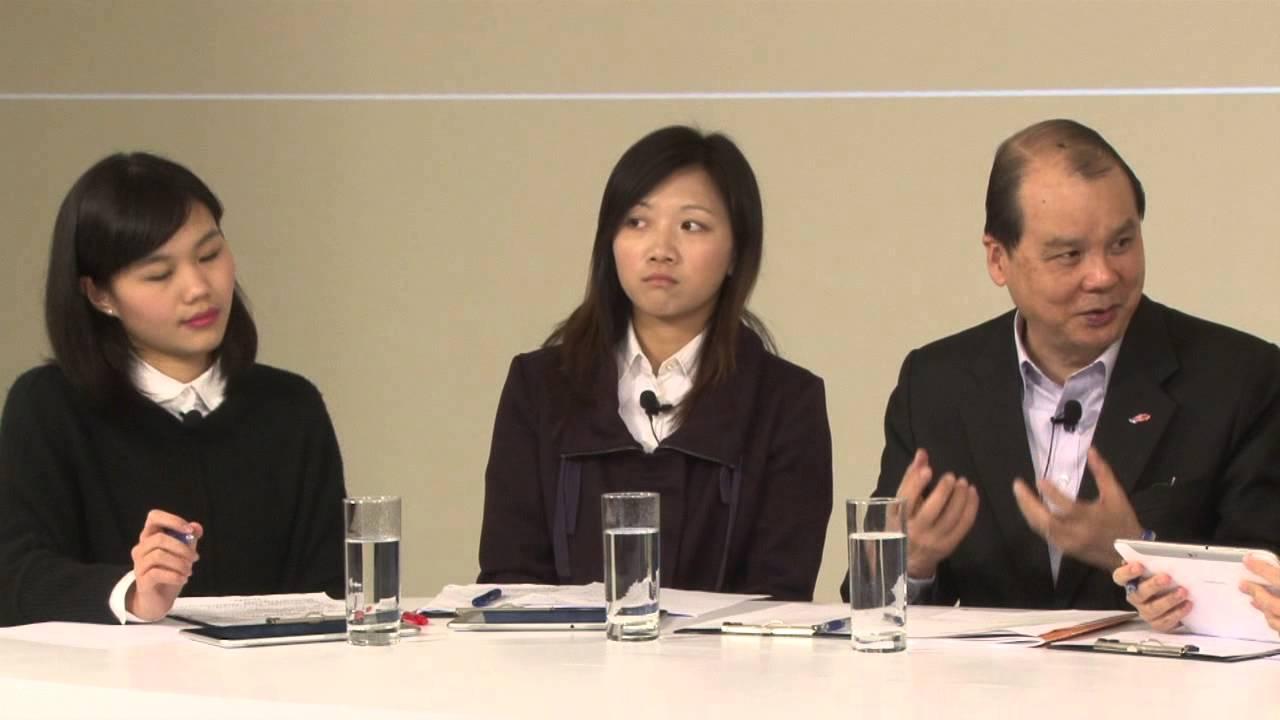 青年與勞工及福利局局長張建宗對話